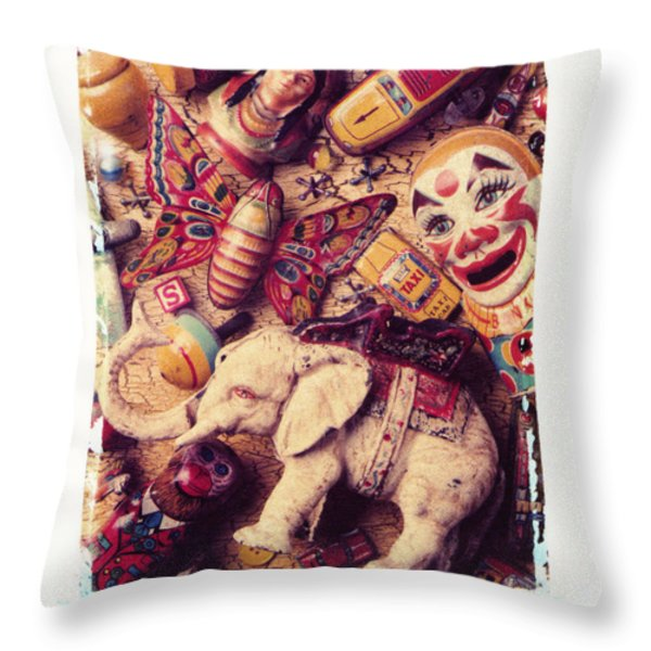 White Elephant Throw Pillow by Garry Gay