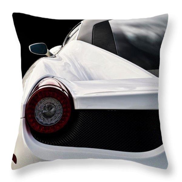 White Italia Throw Pillow by Douglas Pittman