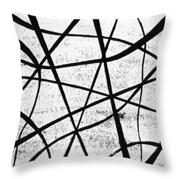 White on Black Throw Pillow by Hakon Soreide