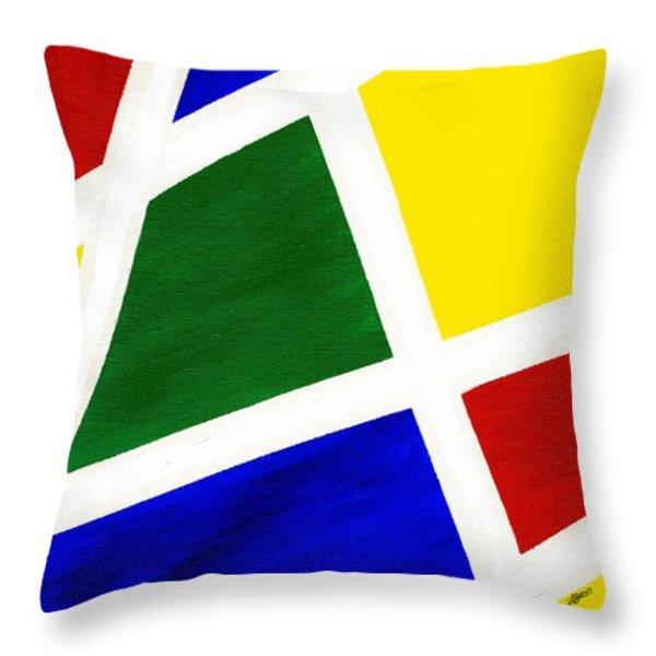 White Stripes 6 Throw Pillow by Hakon Soreide