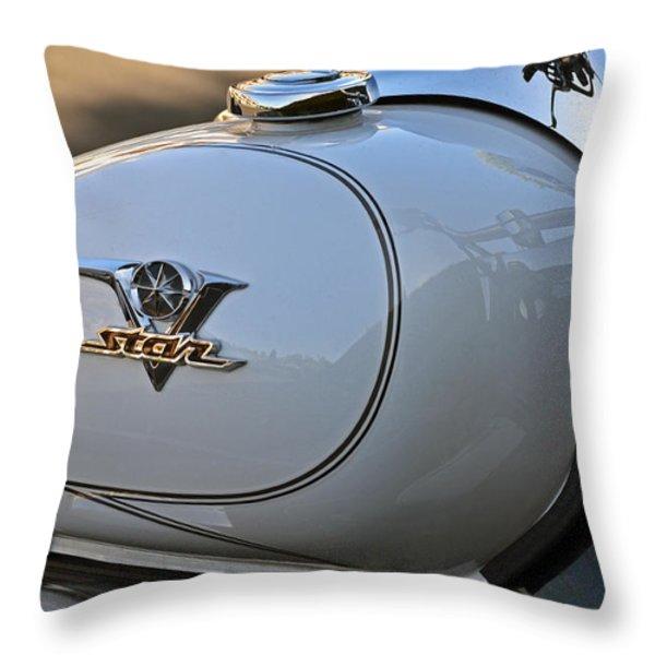 White V Star Throw Pillow by Bill Owen