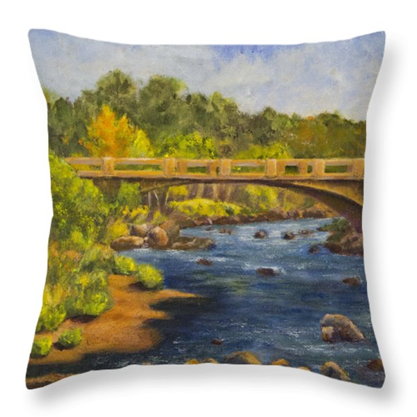 Whitney Crossing Throw Pillow by Jo-Anne Gazo-McKim
