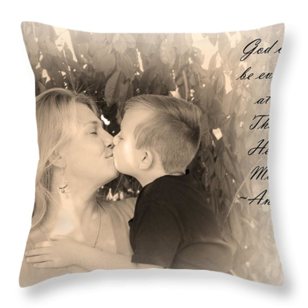 Why He Made Mothers Throw Pillow by Kelly Hazel