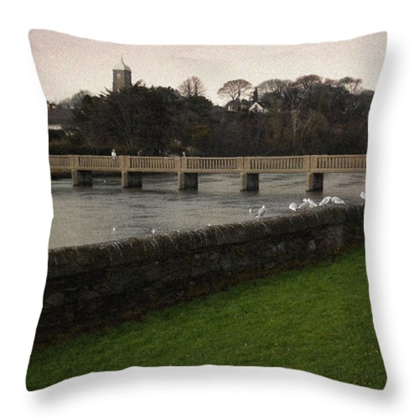 Wicklow Footbridge Throw Pillow by Tim Nyberg