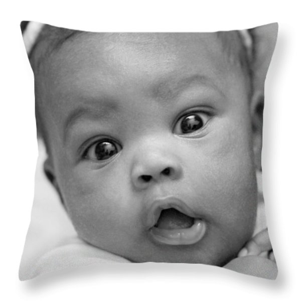 Wide Awake Throw Pillow by Lisa  Phillips