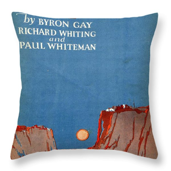 Wide Open Spaces Throw Pillow by Mel Thompson