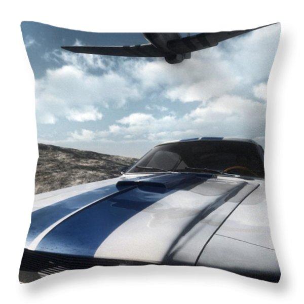Wild Horses Throw Pillow by Richard Rizzo