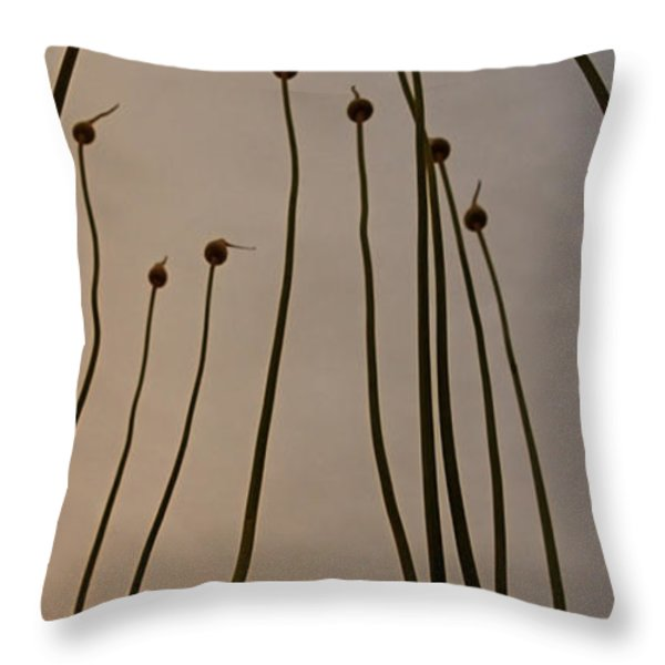 Wild Onions Throw Pillow by Stylianos Kleanthous