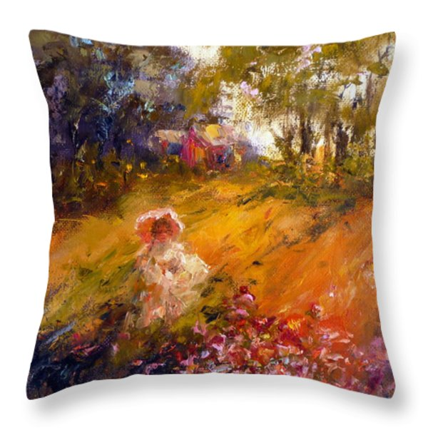 Wildflowers Throw Pillow by Marie Green