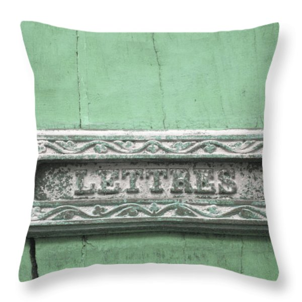 Will You Write - Jade Green Letter Box Throw Pillow by Nomad Art And  Design