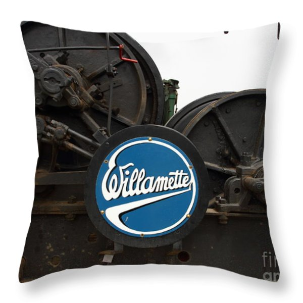 Willamette Steam Engine 7d15104 Throw Pillow by Wingsdomain Art and Photography