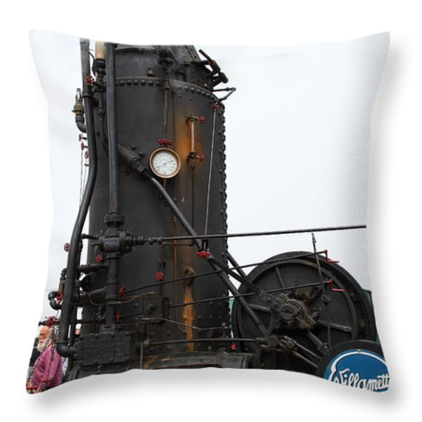 Willamette Steam Engine 7d15105 Throw Pillow by Wingsdomain Art and Photography