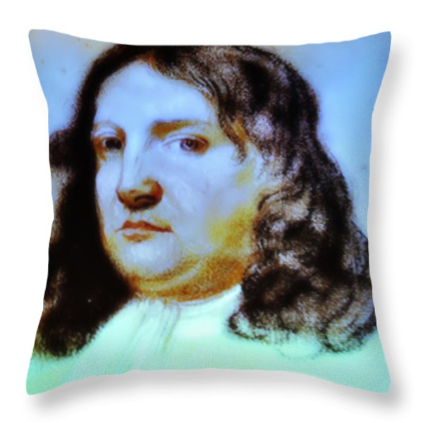William Penn Portrait Throw Pillow by Bill Cannon