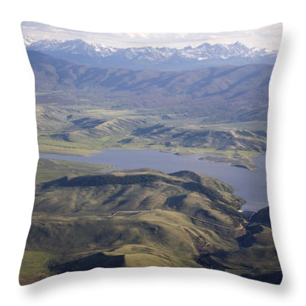 Williams Fork Reservoir Provides Water Throw Pillow by Michael S. Lewis