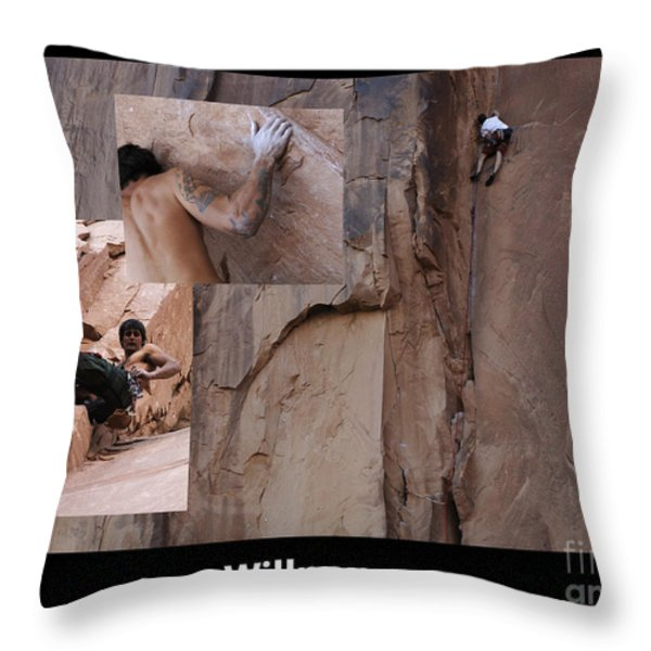 Willpower With Caption Throw Pillow by Bob Christopher