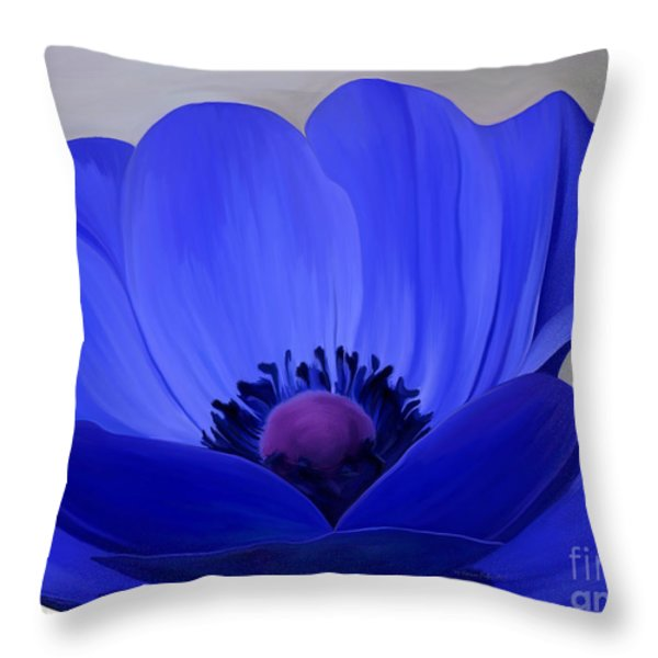 Windflower Throw Pillow by Patricia Griffin Brett