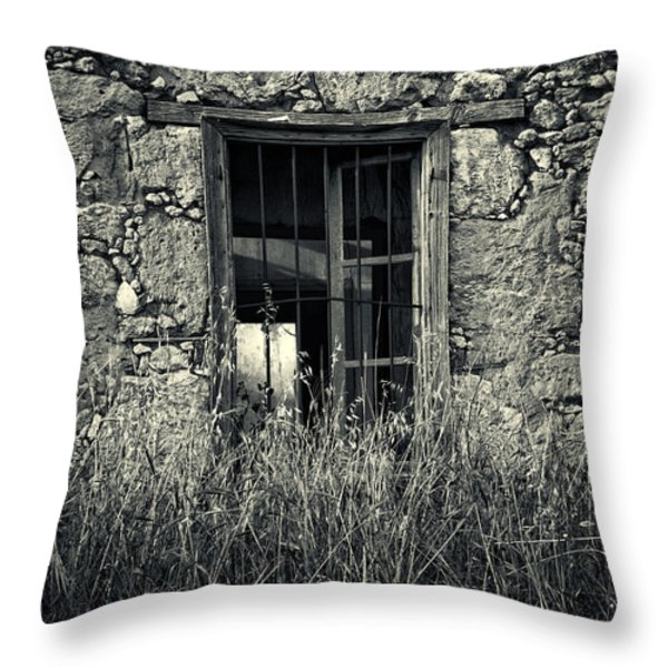 window of memories Throw Pillow by Stylianos Kleanthous