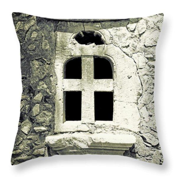 window of stone Throw Pillow by Joana Kruse