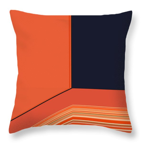 Window Seat Throw Pillow by Bonnie Bruno