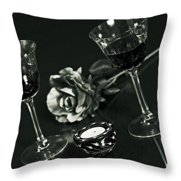 Wine For Two Throw Pillow by Joana Kruse