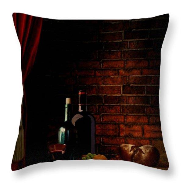Wine Lifestyle Throw Pillow by Lourry Legarde