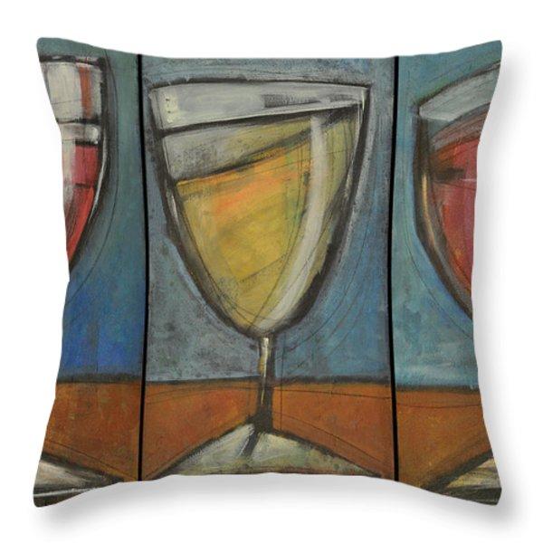 Wine Trio Option 2 Throw Pillow by Tim Nyberg
