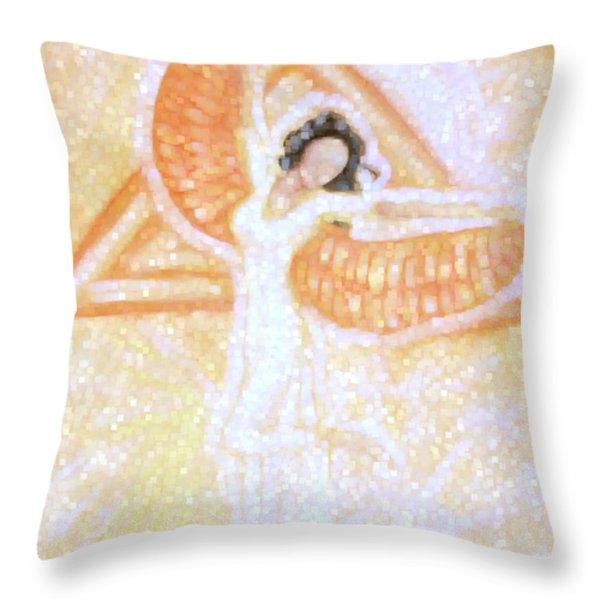 Winged Goddess Throw Pillow by Cassandra Geernaert