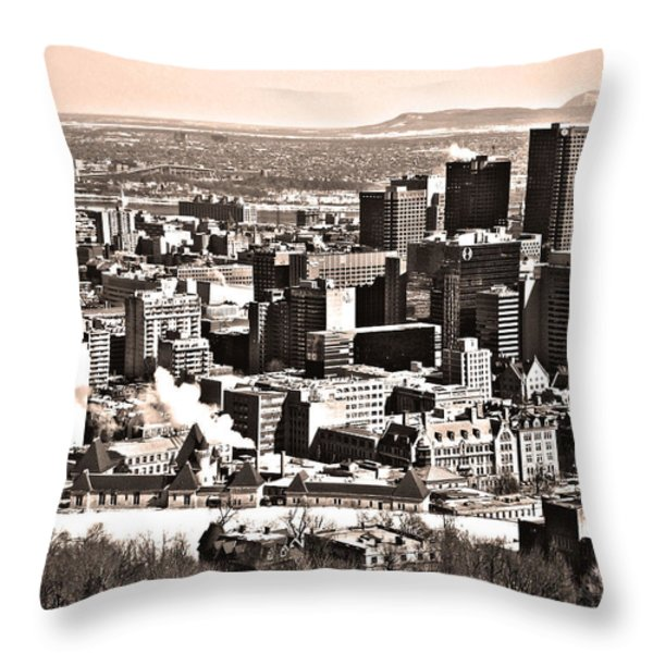 Winter In The City ... Throw Pillow by Juergen Weiss