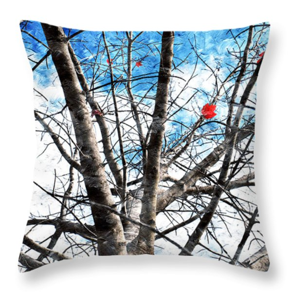 Winter Is Near Throw Pillow by Andee Design