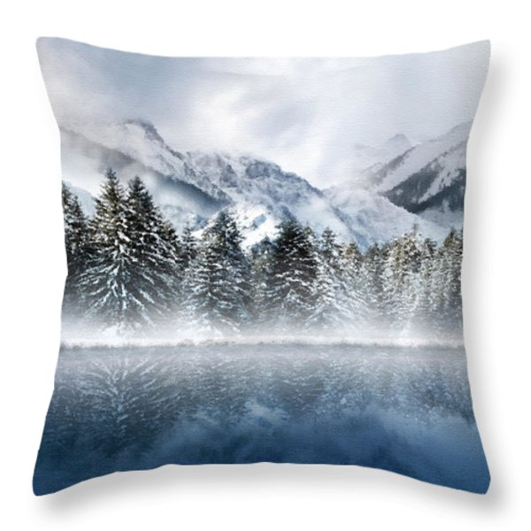 Winter Mist Throw Pillow by Svetlana Sewell
