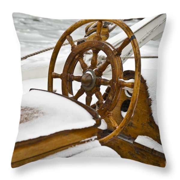 Winter on Board Throw Pillow by Heiko Koehrer-Wagner