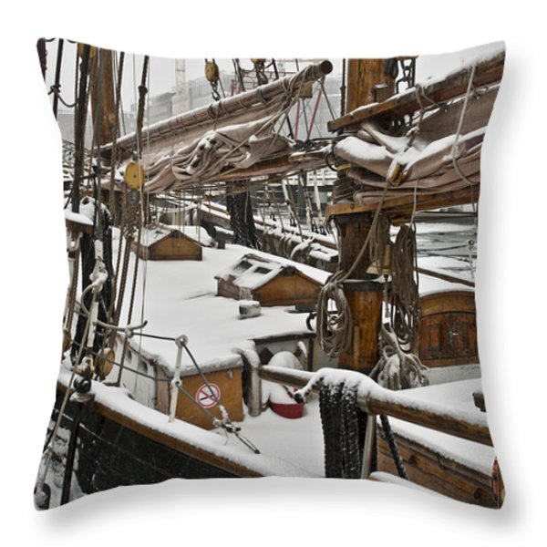 Winter on Deck Throw Pillow by Heiko Koehrer-Wagner