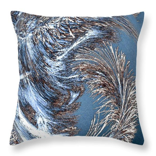 Wintry Pine Needles Throw Pillow by Will Borden