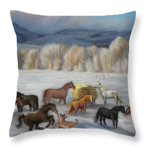 Wishing You Peace  Joy  Abundance And Love Throughout The New Year Throw Pillow by Dawn Senior-Trask