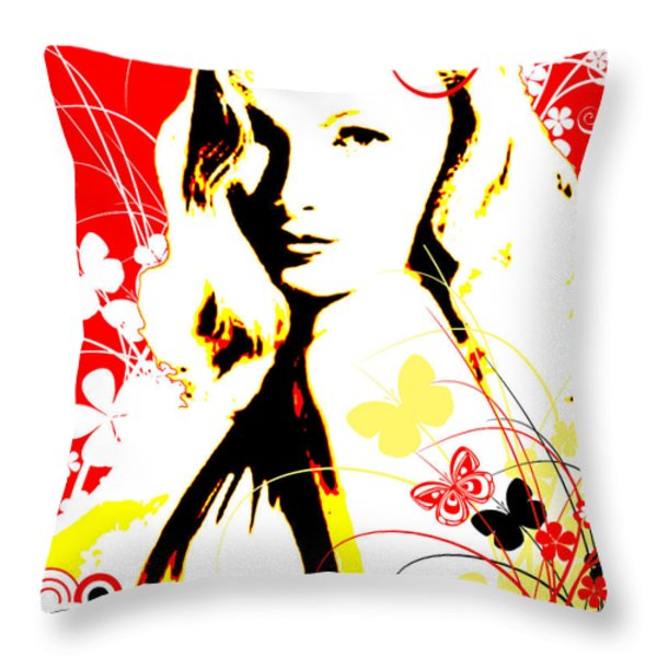 Wistful Flutter Throw Pillow by Chris Andruskiewicz