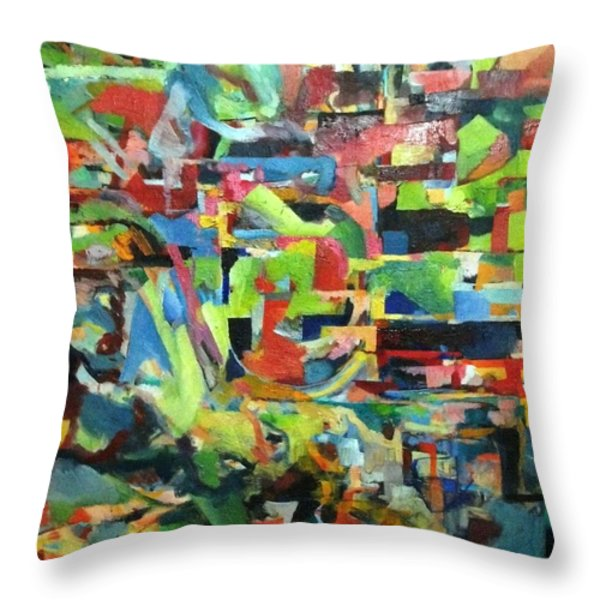 With Heavenly Assistance Throw Pillow by David Baruch Wolk