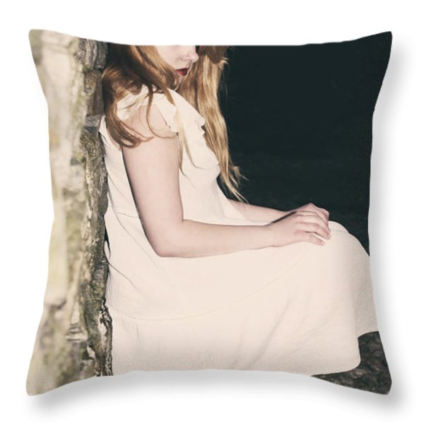 Woman In An Alley Throw Pillow by Joana Kruse