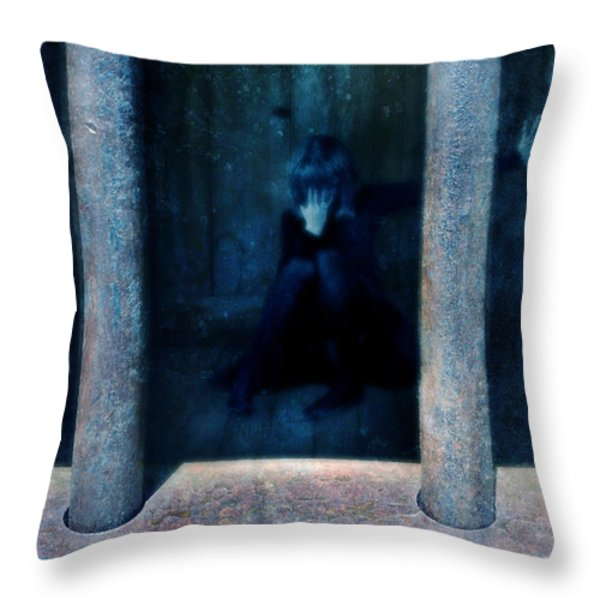 Woman in Jail Throw Pillow by Jill Battaglia