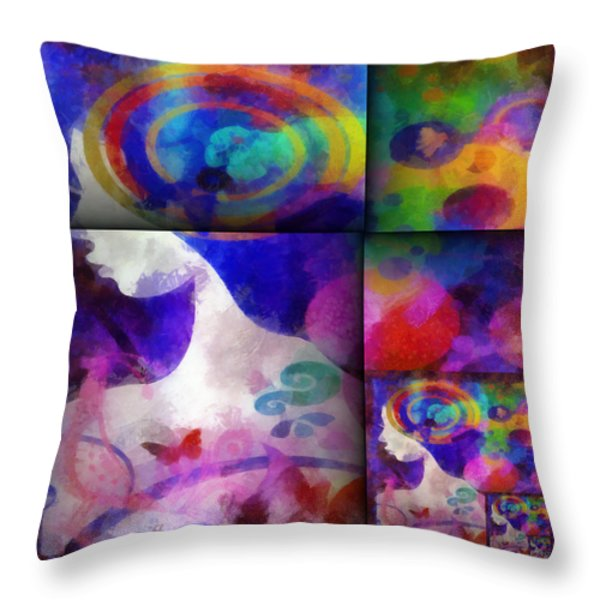 Wondering 1 Throw Pillow by Angelina Vick
