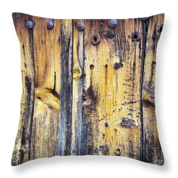 Wood Throw Pillow by Eena Bo