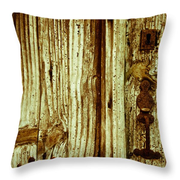 Wood Grain Throw Pillow by Nomad Art And  Design