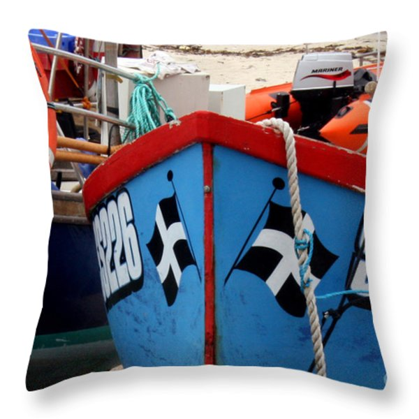 Working Harbour Throw Pillow by Terri  Waters