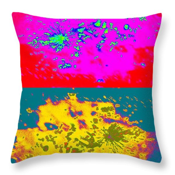 Works 8 Throw Pillow by Randall Weidner