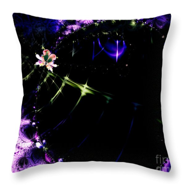 Wormhole Beyond . S4a.S10 Throw Pillow by Wingsdomain Art and Photography