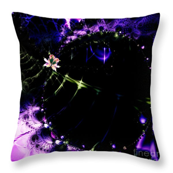 Wormhole Beyond . Square . S4a.S10 Throw Pillow by Wingsdomain Art and Photography