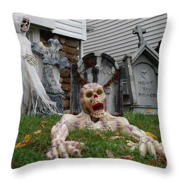 Worms Eye View Of Terror Throw Pillow by Richard Bryce and Family