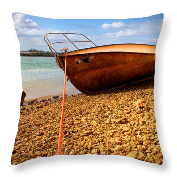 Wrack Throw Pillow by Carlos Caetano