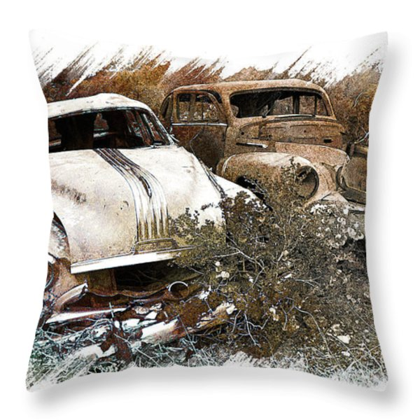 Wreck 3 Throw Pillow by Mauro Celotti