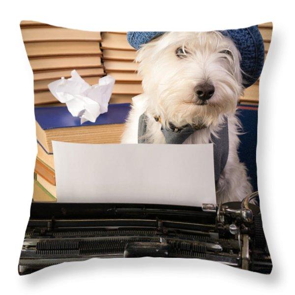 Writer's Block Throw Pillow by Edward Fielding