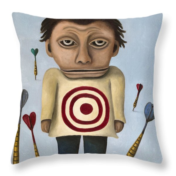 WTF 2 With Words Throw Pillow by Leah Saulnier The Painting Maniac